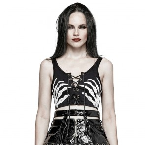 Dance Macabre Sleeveless Gothic Top - Punk Rave