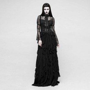 Decadence Gothic Long Skirt - Punk Rave
