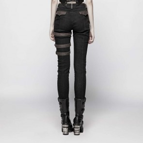 Ex Mashina Trouser Black brown - Punk Rave