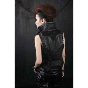 Steampunk Womens Spike vest - Punk Rave