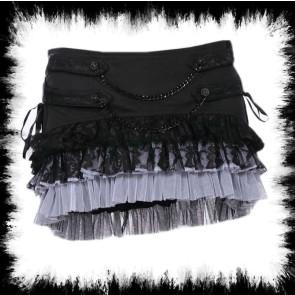 Jupe Gothique Avec Dentel Gris Et Noir