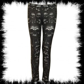 Catacomb Allover Comfy Fit Leggings Black