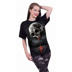 DEATH MOON - Front Print T-Shirt Black