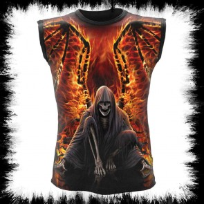 Flaming Death Allover Shirt Sans Manches Noir