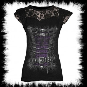 Gothic Lady Shirt Waisted Corzet
