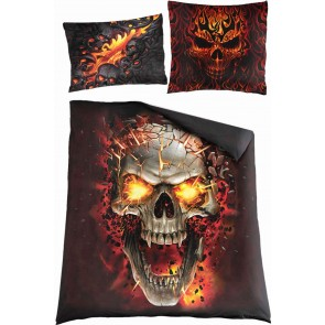 SKULL BLAST - Double Duvet Cover + UK And EU Pillow case
