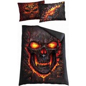 SKULL BLAST - Single Duvet Cover + UK And EU Pillow case