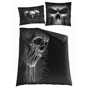 SKULL SCROLL - Double Duvet Cover + UK And EU Pillow case