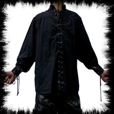 Schwarzes Piraten Hemd Zum Schnüren