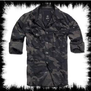 Brandit Herrenhemd Dark Camo