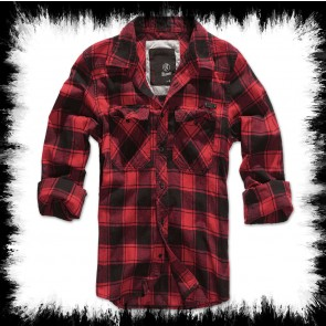 Brandit Holzfällerhemd Rot