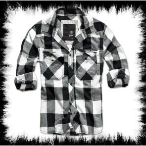 Brandit Holzfällerhemd Weiß Schwarz