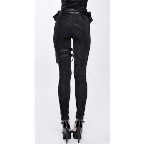 Devil Fashion - Frauen Slimfit Hose mit Holstertasche