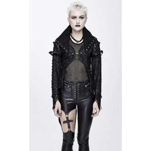 Devil Fashion - Gothic Frauen Fetzen Jacke