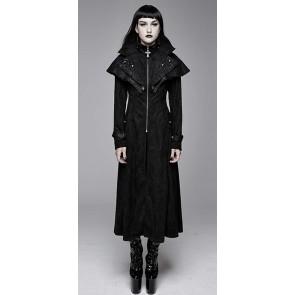 Devil Fashion - Gothic Frauen Mantel mit grossem Schulterkragen.