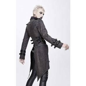 Devil Fashion - Gothic Frauen Schwalbenschwanz Mantel Zweiteilig
