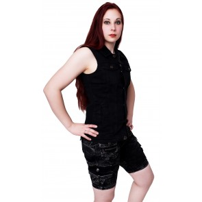 Jeans Weste Schwarz Frauen