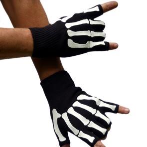 Fingerlose Handschuhe Knochenfinger