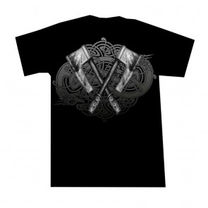 Gothic T Shirt Krieger Zwerg Victory Grau