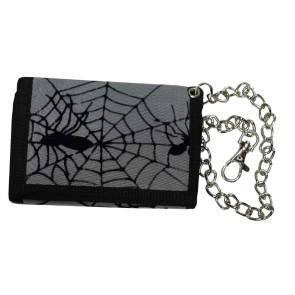 Portemonnaie Mit Kette Graues Spinnennetz