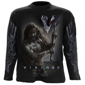 ROLLO AXE - KEEP CALM - VIKINGS LONGSLEEVE SHIRT SCHWARZ