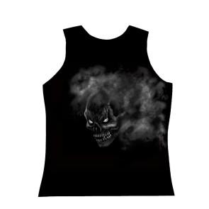 Herren Tanktop Fog Skull Evil Shirt