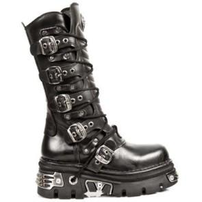 M.1012-C1 New Rock Hoher Stiefel Metallic