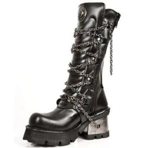 M.1017-C1 New Rock Hoher Stiefel Metallic