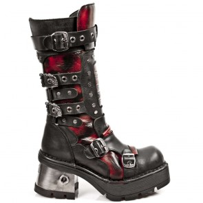 M.1021-C2 New Rock Hoher Stiefel Metallic
