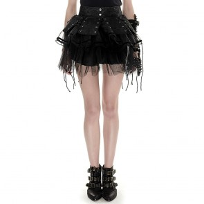 Adora Black Gothic Skirt - Punk Rave