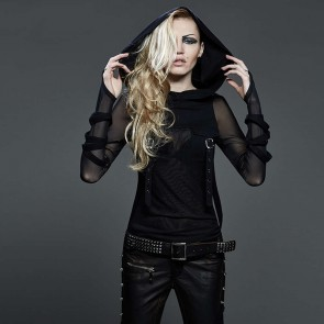 Tremere Hooded Longleeve Top - Punk Rave