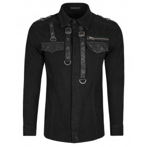 Viscount Black Gothic Men Shirt - Punk Rave