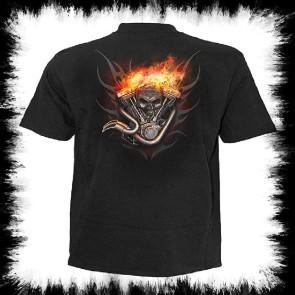 Biker Metal T Shirt Wheels Of Fire