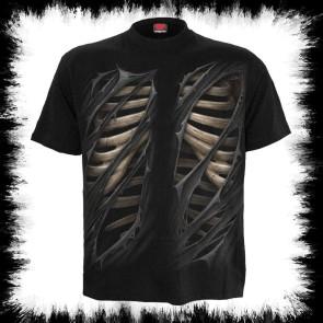Bone Rips T Shirt Schwarz