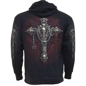 Gothic Hoodie Bone Cross