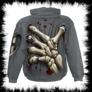 Gothic Hoodie Knochen Finger