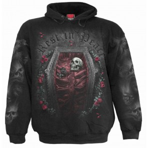 Gothic Hoodie Rest In Peace