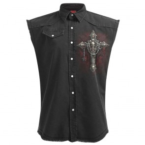 Gothic Workershirt Bone Cross