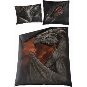 MAJESTIC DRACO - Double Duvet Cover + UK And EU Pillow case