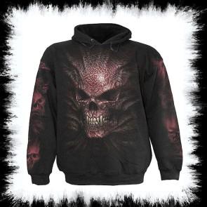 Metal Hoody Gothic Skull